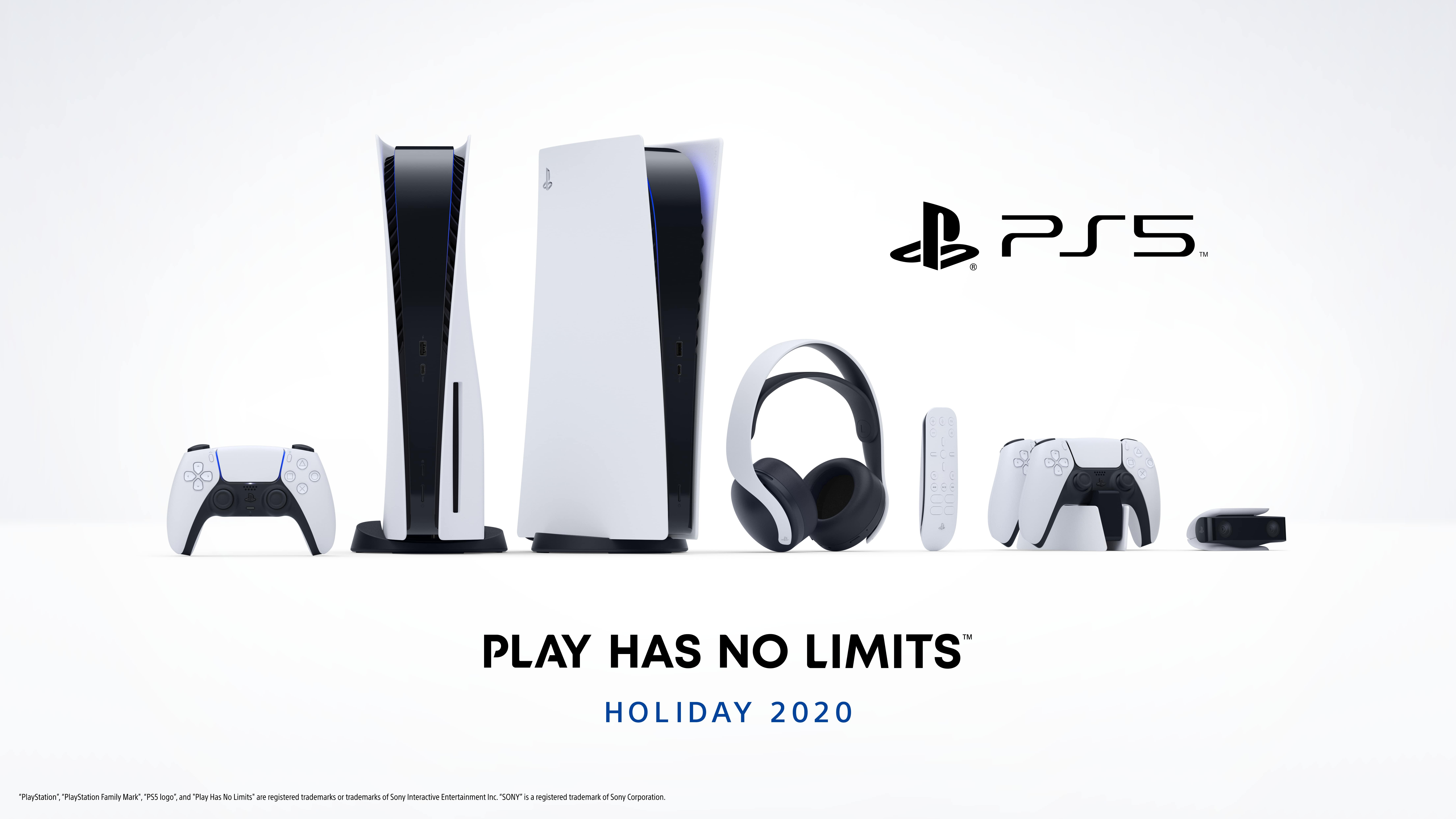 PlayStation 5 consoles and peripherals