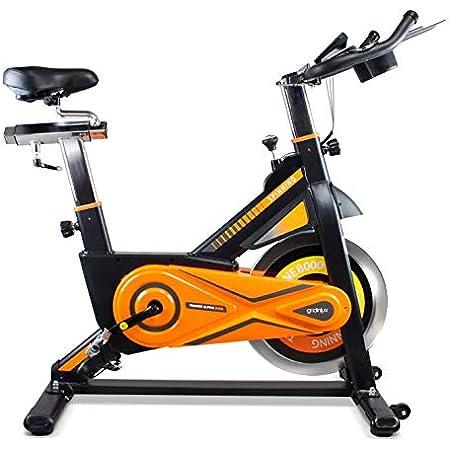 gridinlux. Trainer Alpine 8000. Vélo Spinning Pro-Indoor, Volant d´inertie 25 kg, Niveau Avancé, Système d'Absorption des Chocs, Ecran LCD, Fitness.