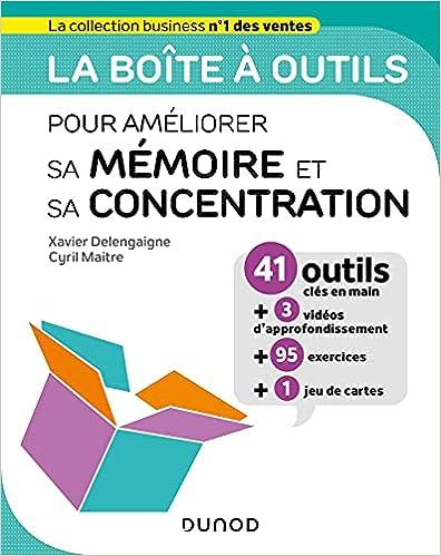 Couverture du livre la boite à outils pour améliorer sa mémoire et sa concentration Dunod