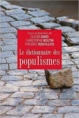 Couverture Le dictionnaire des populismes