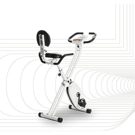 SportPlus - Vélo d'Appartement - Pliable et ultra compact - Plusieurs Modèles disponibles - de 8 à 24 Niveaux de Résistance - Capteurs de Pouls intégrés - Selles ultra confortable