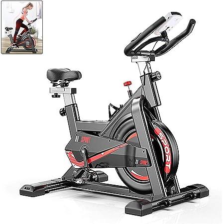 AJUMKER Vélo d'appartement d'intérieur Vélo de Spinning Guidon réglable et siège Gym Entraînement à Domicile Vélo de Fitness Tout Compris Stationnaire Vélo Biking, écran LCD, 150kg