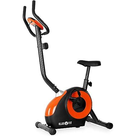 Klarfit MOBI-FX-250 - Ergomètre, Home-Trainer, Vélo Fitness, Vélo Cardio, Ordinateur d'entraînement, Pulsomètre intégré, 8 Niveaux de résistance réglables, Forme Ergonomique
