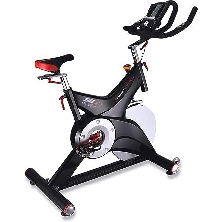 Sportstech vélo Appartement Silencieux SX500 - Video Events & Multijoueur App, Poids d'inertie 25KG, Compatible Ceinture pulsée - jusqu'à 150KG, eBook Inclus