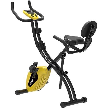 TechFit XB Vélo d'exercice Pliable, Unisexe, Volant d'Inertie 4.5 kg, Système de Freinage Magnétique à 10 Vitesses