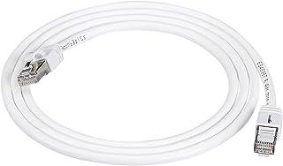 AmazonBasics Cat 7 Câble Internet Haute Vitesse Gigabit Ethernet Patch, Blanc, 1-Pack, 1.5 m