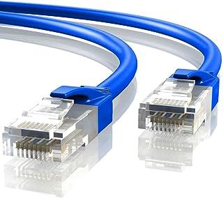 Mr. Tronic 5m Câble de Réseau Ethernet | CAT6, AWG24, CCA, UTP, RJ45 (5 Mètres, Bleu)