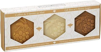Huile Parfumée Coffret cadeau avec 3Savon en miel de Provence, 3x 100g