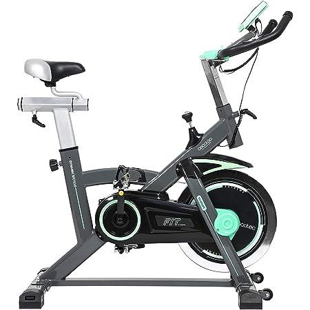 Cecotec Vélo Indoor Extreme 20. 20 kg Volant d'inertie, Pulsomètre, Écran LCD, Résistance Variable, Stabilisateurs, SilenceFit, Complètement Réglable.
