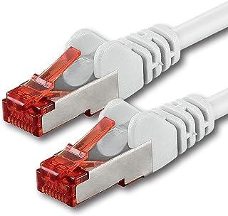 10m - Blanc - 1 pièce - CAT6 Câble Ethernet - Câble Réseau RJ45 10/100 / 1000 Mo/s câble de Patch LAN Câble |Cat 6 S-FTP P...
