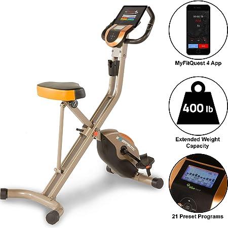 Exerpeutic Gold 575 XLS Vélo d'appartement pliant Bluetooth Smart