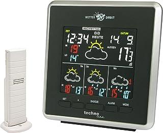 Technoline Wetterdirekt Station météo avec Affichage LED, Affichage de la température intérieure et extérieure, Ainsi Que ...