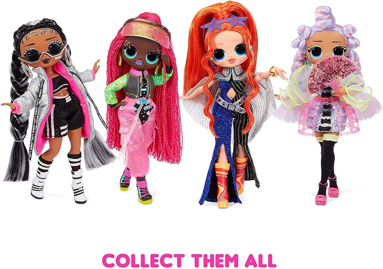 Poupée Mannequin LOL Surprise OMG Dance Dance Dance B-Gurl avec 15 Surprises, vêtements de créateur, Lumière noire Magique, Accessoires de Mode et Pack TV. Pour les filles de 4 ans et +