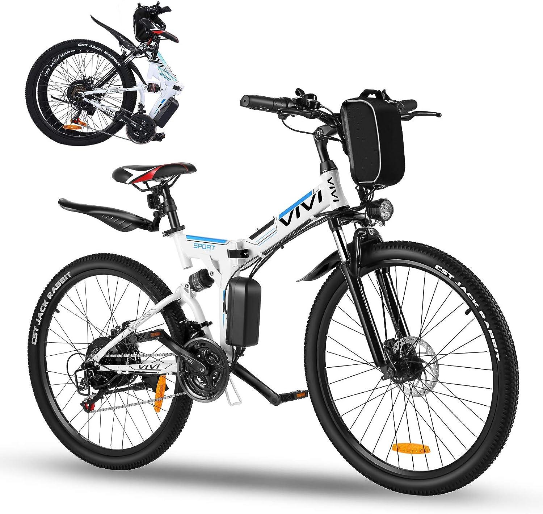 """Vivi Vélo Électrique Pliable, 26"""" VTT Electrique Homme Femme"""