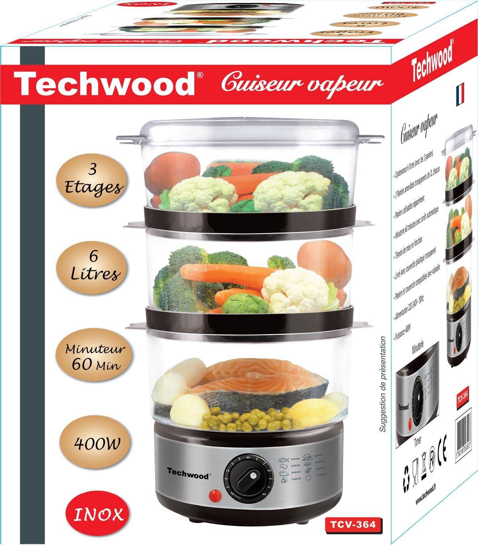 جهاز الطبخ بالبخار بـ 3 طبقات من الاينوكس TECHWOOD  TCV 364, إيمي شيك
