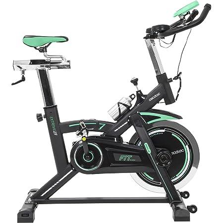 Cecotec Vélo Indoor Extreme 25. 25 kg Volant d'inertie, Pulsomètre, Écran LCD, Résistance Variable, Stabilisateurs, SilenceFit, Complètement Réglable.