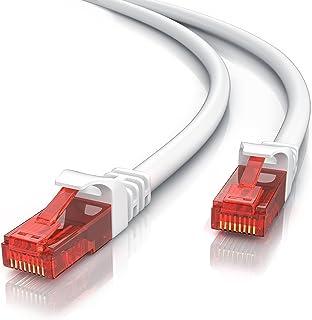 CSL- Câble réseau Cat 6 RJ 45 de 3m - Câble LAN Gigabit Ethernet 1Gbps - Revêtement en PVC - 10/100 /1000 Mbits - Câble de...