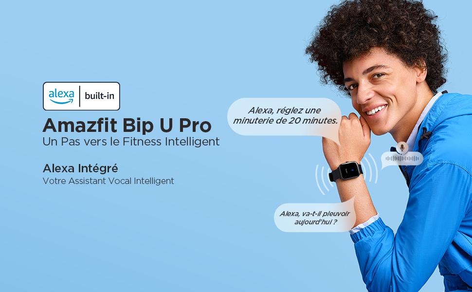 Amazfit Bip U Pro - Entrez dans le Fitness Intelligent:1,43'' Grand écran Couleur HD | Mesure du Niveau d'Oxygène du Sang | 60+ Modes Sportifis avec 5 ATM