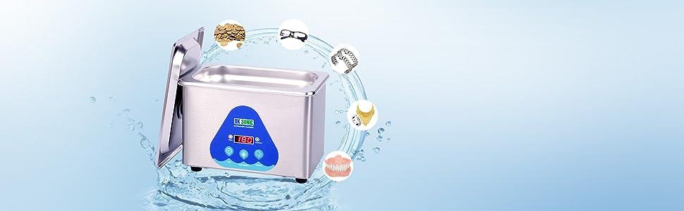 Le nettoyeur à ultrasons numérique DK SONIC peut être utilisé pour nettoyer les lunettes