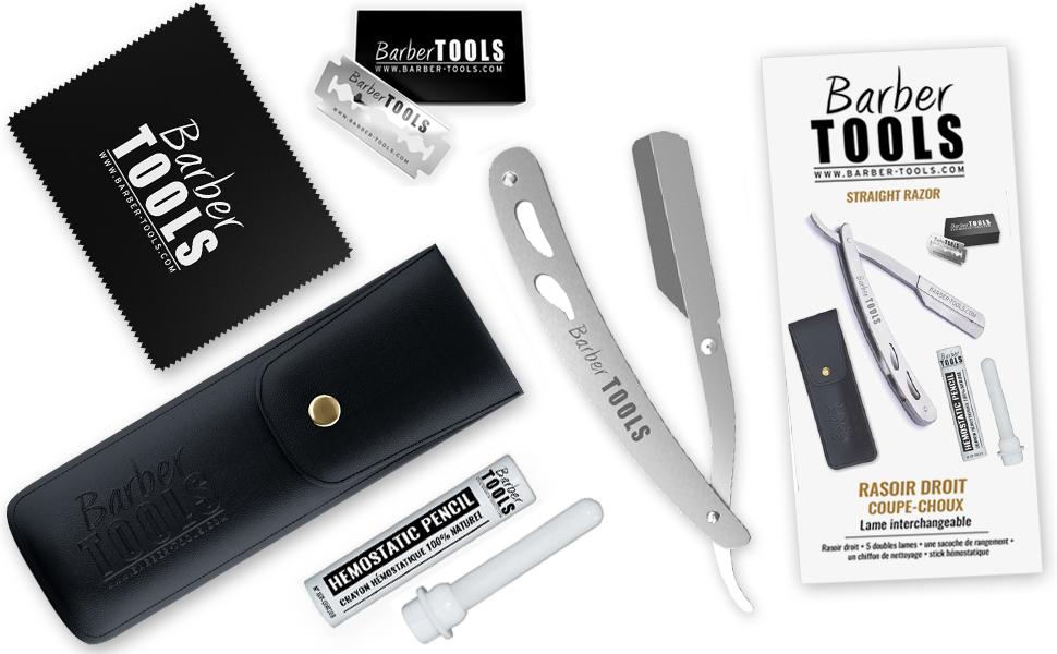 Rasoir droit coupe-choux/Rasoir de barbier lame interchangeable