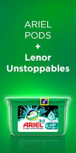 Ariel Pods + Lenor Unstoppables