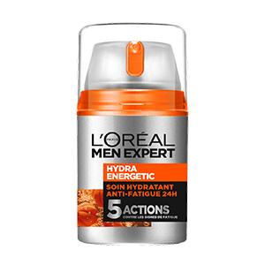 Hydra Energetic soin anti-fatigue guarana 5 actions  L'Oréal Men Expert