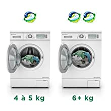 How to dose Ariel Pods.  A pod is perfect for washing four to five kilograms of laundry.  Two pods